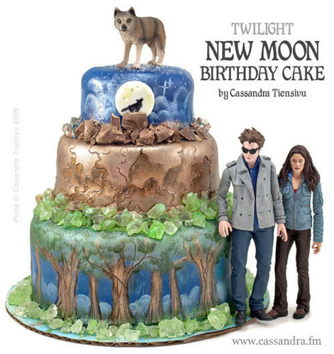 Twilight Series wallpaper titled Awesome New Moon Bday Cake :)