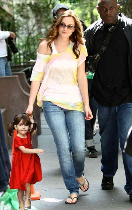 Blair and her Daughter (Chuck's kid!!!)