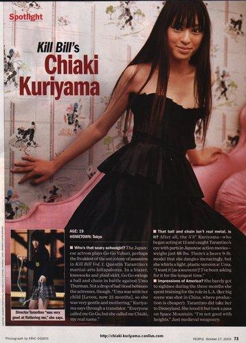 Chiaki Kuriyama as Gogo Yubari
