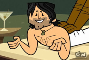 Total Drama Island karatasi la kupamba ukuta containing anime titled Chris fully shirtless