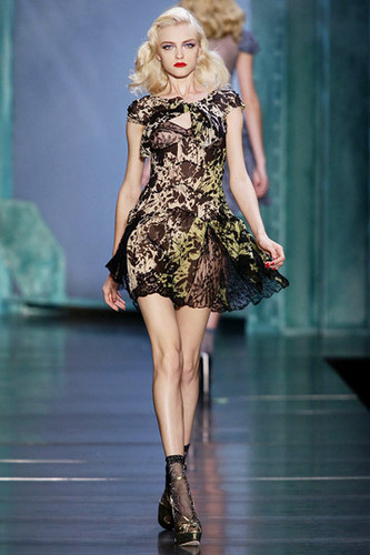 Dior wallpaper possibly with tights, a leotard, and a playsuit called Christian Dior Spring 2010 RTW