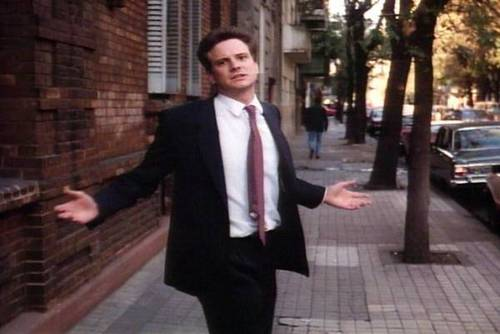 Colin Firth Wallpaper Containing A Business Suit, A Suit, And A Street  Titled Colin. Colin In Apartment Zero.