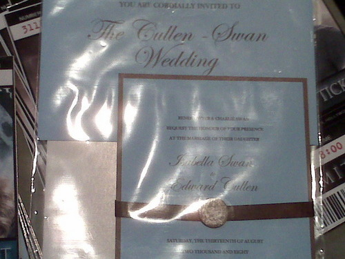 Cullen wedding invite