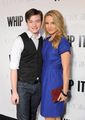 Dianna Agron with Chris Colfer