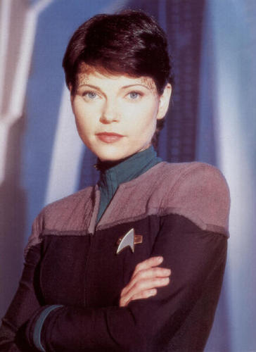 bituin Trek: Deep puwang Nine wolpeyper possibly with a well dressed person and an outerwear entitled Ezri Dax