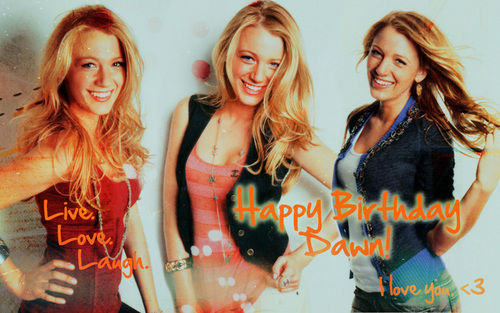 Happy Birthday Dawn <33