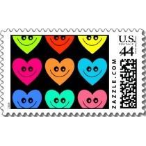 Happy hati, tengah-tengah stamp for true Friends