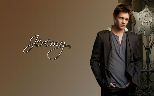 the vampire diaries wallpaper with a business suit and a well dressed person called Jeremy