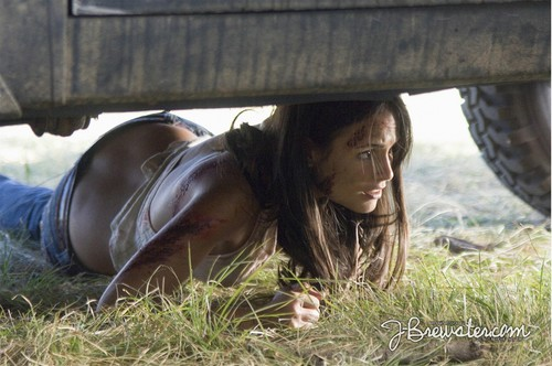 Horror 여배우 바탕화면 possibly with a covered wagon called Jordana Brewster