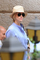 Julia Roberts filming in Rome, Italy - eat-pray-love photo