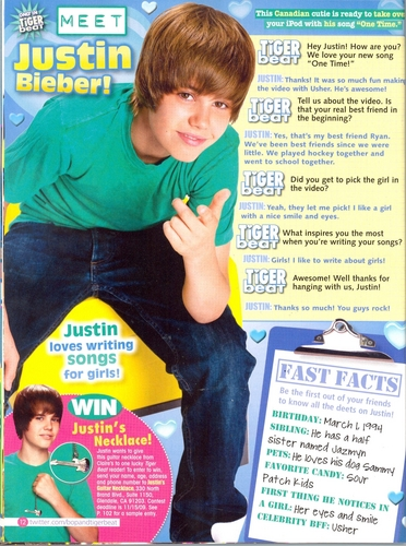Justin Tiger Beat Scan