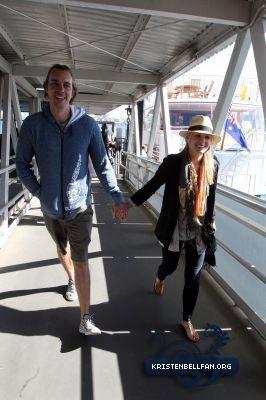 Kristen On Sydney harbour