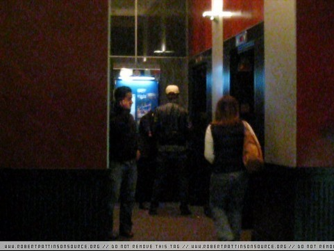 Kristen and Robert spotted out in a elevator