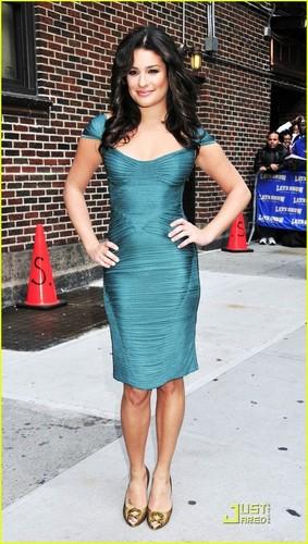 Lea Michele on 'The Letterman Show' (05/10/09)