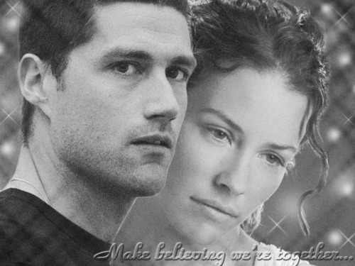 Jack and Kate wallpaper with a portrait called Make believing we're together