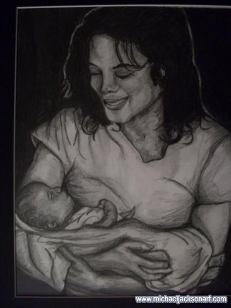 Michael holding Prince