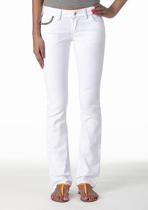morgan Low-Rise Pyramid Skinny Jean - White
