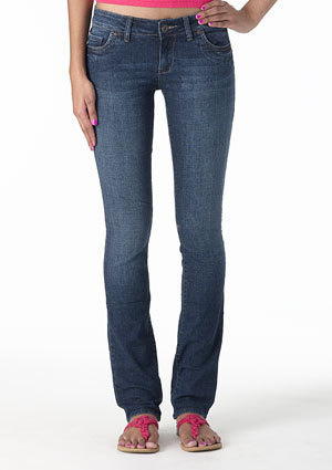 morgan Low-Rise Skinny Jean - Medium Blue