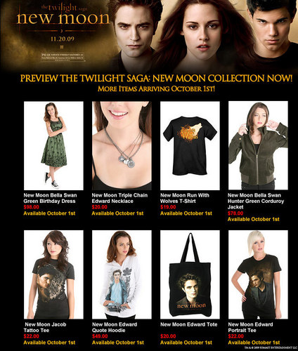 New Moon Items to buy!