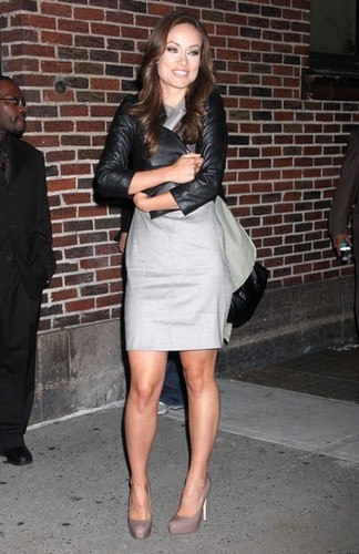 Olivia@'Late ipakita With David Letterman'