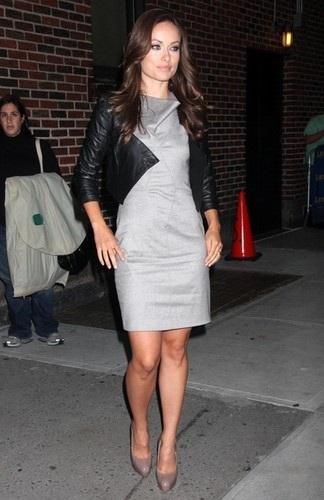 Olivia@'Late tampil With David Letterman'