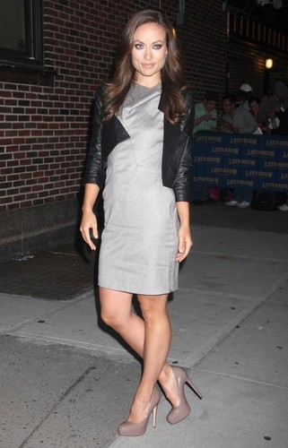 Olivia@'Late mostra With David Letterman'