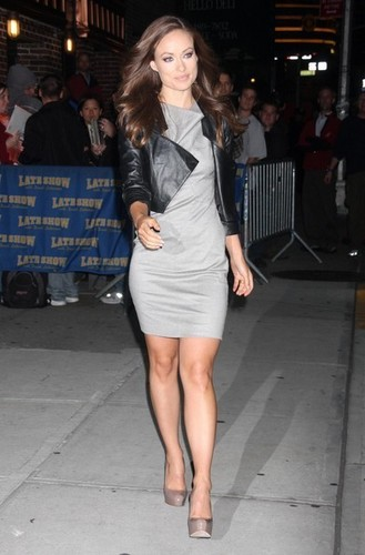 Olivia@'Late Show With David Letterman'