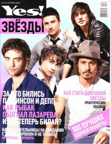 "Rob chosen ""the coolest man on earth"" bởi Russian Yes! Mag"