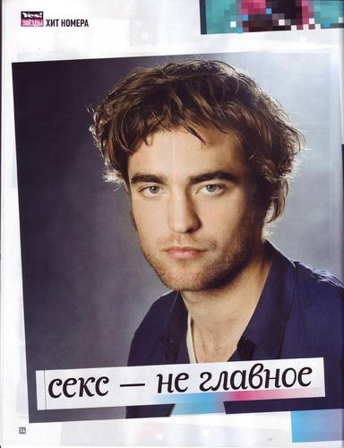 "Rob chosen ""the coolest man on earth"" 由 Russian Yes! Mag"