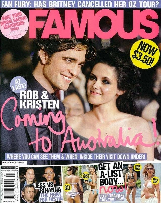 Robert Pattinson in Australias Famous Magazine