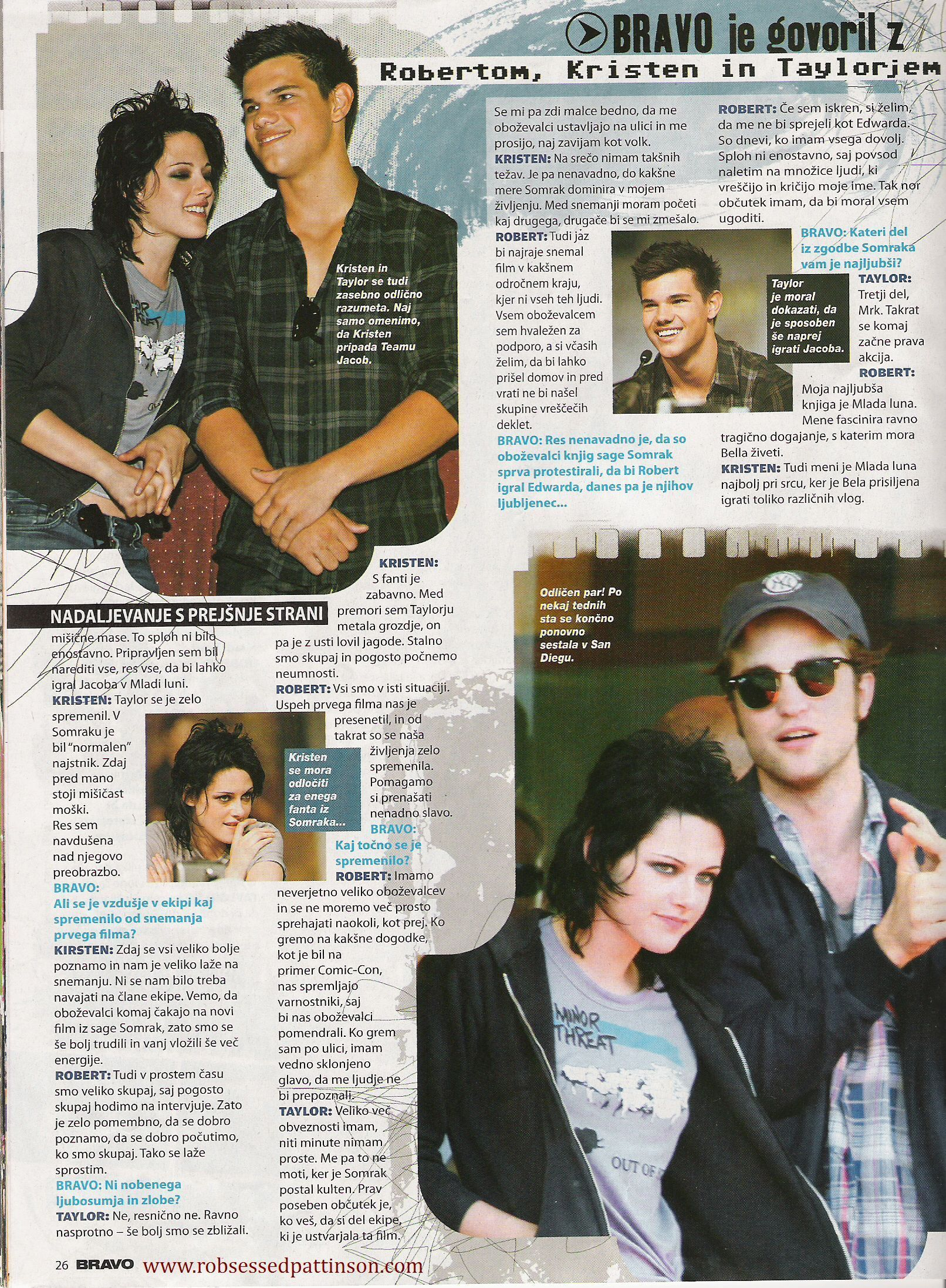 Robert Pattinson in Slovenian Magazines