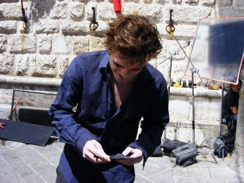 Robert filming