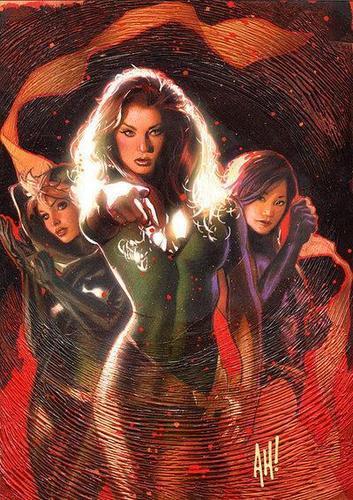Rogue, Jean Grey & Psylocke