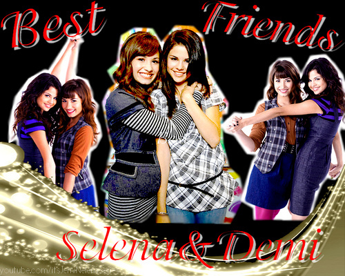 Selena and Demibg - selena-gomez-and-demi-lovato photo
