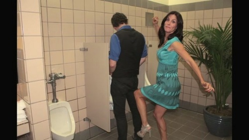 Cougar Town wallpaper with a bathroom, a washroom, and a public toilet entitled Single Ladies Clip Photos.