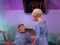 Spock and Christine in ''Return to tomorrow'' - spock-and-christine-chapel photo