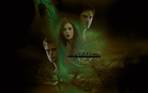 The Vampire Diaries TV Show images Stefan, Elena and Damon HD wallpaper and background photos