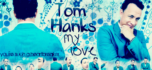 Tom Hanks wallpaper possibly with a sign and a portrait titled Tom