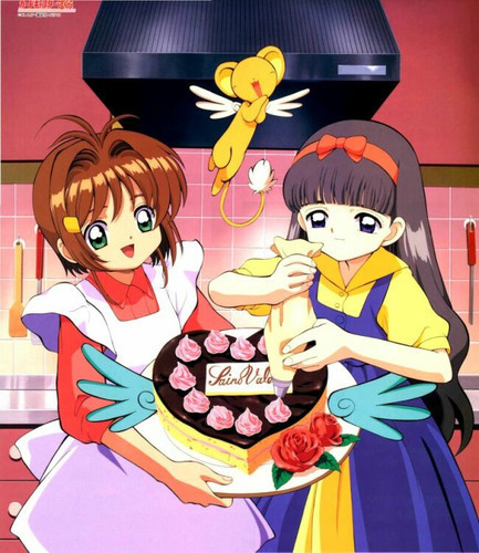 Cardcaptor Sakura wolpeyper with anime titled Tomoy & Sakura