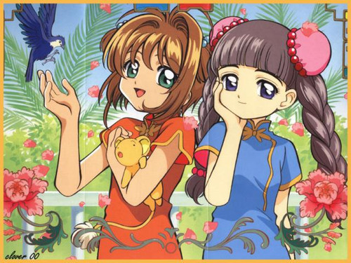 Cardcaptor Sakura wolpeyper containing anime called Tomoyo & Sakura