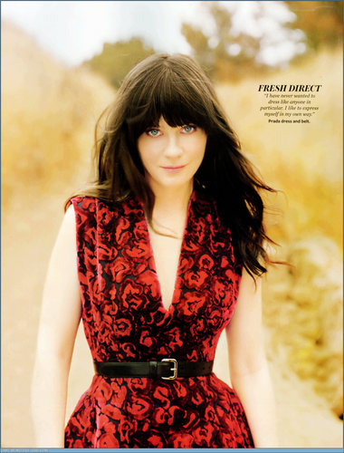 Zooey Deschanel wallpaper titled Zooey Deschanel | InStyle Photoshoot