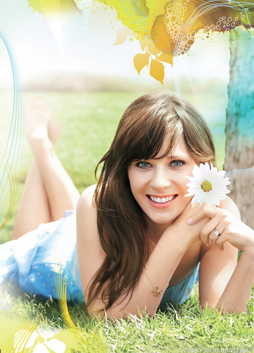 Zooey Deschanel wallpaper containing a bouquet titled Zooey Deschanel | Self Magazine Photoshoot (HQ)