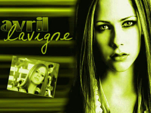 avril green background :)