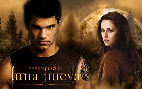 edward, bella and Jacob - Luna Nueva achtergrond