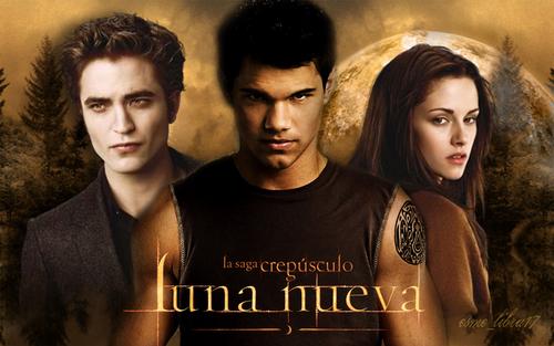 edward, bella and Jacob - Luna Nueva wallpaper