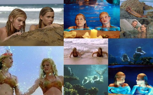 emma and rikki mermaid collage