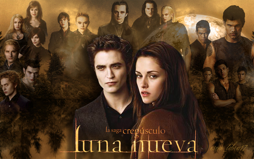 luna Nueva - Wallpaper made by me - cullens, werewolves and volturi