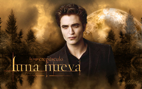 Serie Crepúsculo fondo de pantalla possibly containing a business suit and a sign titled luna Nueva - fondo de pantalla made por me - edward cullen