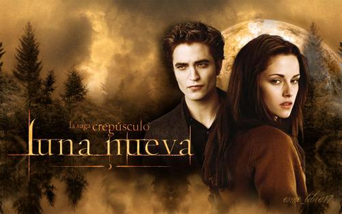 luna Nueva - karatasi la kupamba ukuta made kwa me - edward and bella