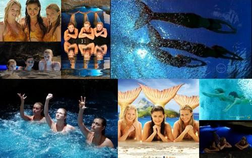 seon 3 mermaids collage